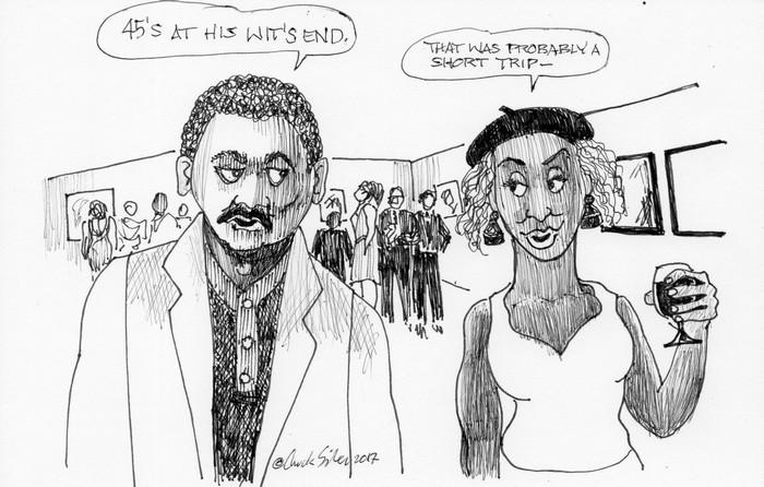 BlackCommentator.com November 30, 2017 - Issue 720: Wits End - Political Cartoon By Chuck Siler, Carrollton TX