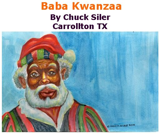 BlackCommentator.com December 14, 2017 - Issue 722: Baba Kwanzaa - Political Cartoon By Chuck Siler, Carrollton TX