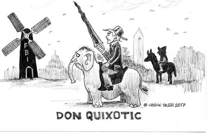 BlackCommentator.com December 21, 2017 - Issue 723: Don Quixotic - Political Cartoon By Chuck Siler, Carrollton TX