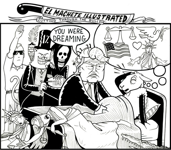 BlackCommentator.com January 11, 2018 - Issue 724: Sheep Dreams - Political Cartoon By Eric Garcia, Chicago IL