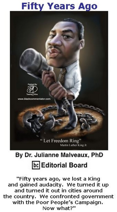 BlackCommentator.com January 11, 2018 - Issue 724: Fifty Years Ago By Dr. Julianne Malveaux, PhD, BC Editorial Board