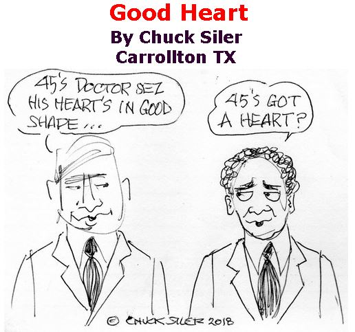 BlackCommentator.com January 25, 2018 - Issue 726: Good Heart - Political Cartoon By Chuck Siler, Carrollton TX