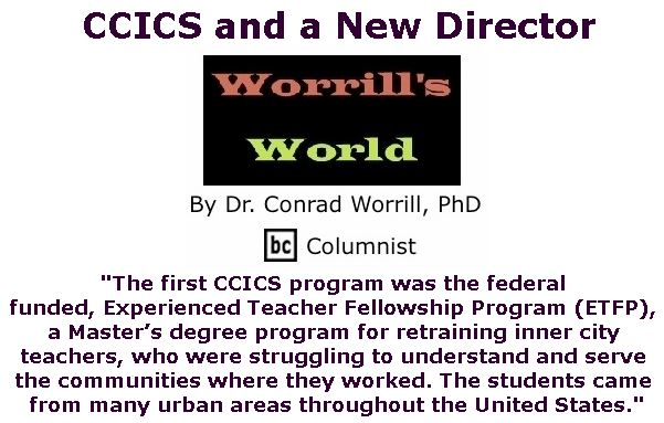 BlackCommentator.com January 25, 2018 - Issue 726: CCICS and a New Director - Worrill's World By Dr. Conrad W. Worrill, PhD, BC Columnist