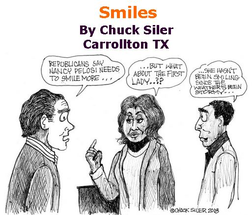 BlackCommentator.com February 15, 2018 - Issue 729: Smiles - Political Cartoon By Chuck Siler, Carrollton TX