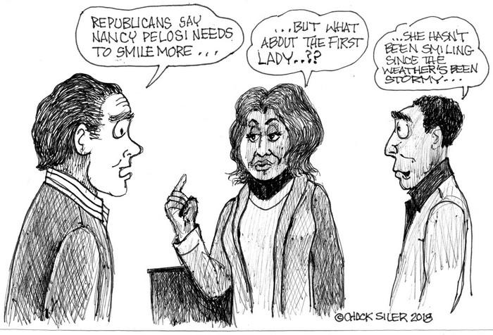 BlackCommentator.com February 15, 2018 - Issue 729: Smiles - Political Cartoon By Chuck Siler, Carrollton TX