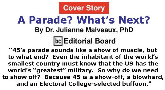 BlackCommentator.com - February 15, 2018 - Issue 729 Cover Story: A Parade? What's Next? By Dr. Julianne Malveaux, PhD, BC Editorial Board