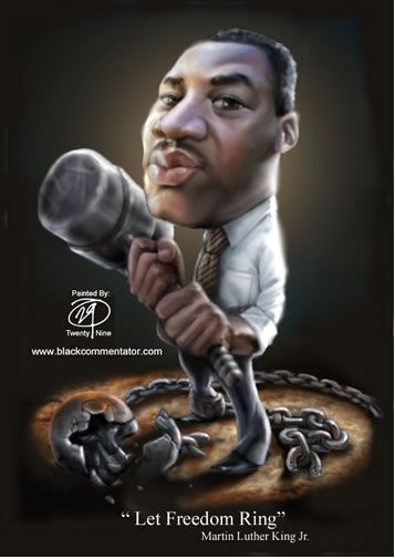 The Black Commentator Cartoon Tribute Dr Martin Luther King Jr
