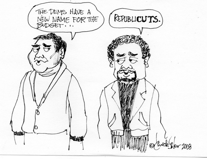BlackCommentator.com February 22, 2018 - Issue 730: Republicuts - Political Cartoon By Chuck Siler, Carrollton TX