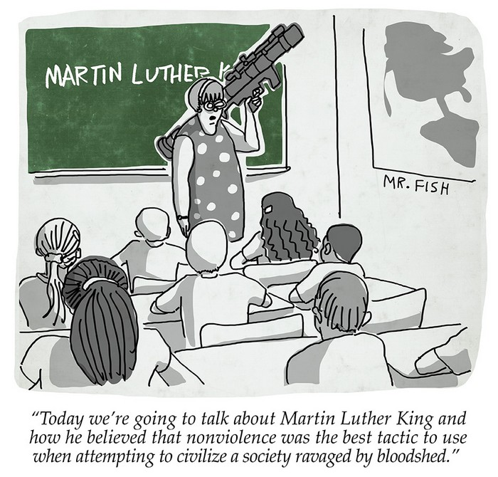 BlackCommentator.com March 01, 2018 - Issue 731: Armed with Knowledge - Political Cartoon By Mr. Fish, Philadelphia PA