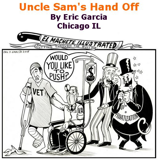 BlackCommentator.com March 08, 2018 - Issue 732: Uncle Sam's Hand Off - Political Cartoon By Eric Garcia, Chicago IL