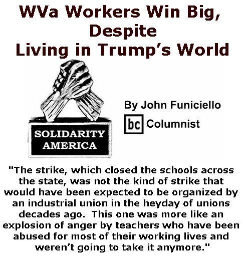 espite Living in Trump's World - Solidarity America By John Funiciello, BC Columnist