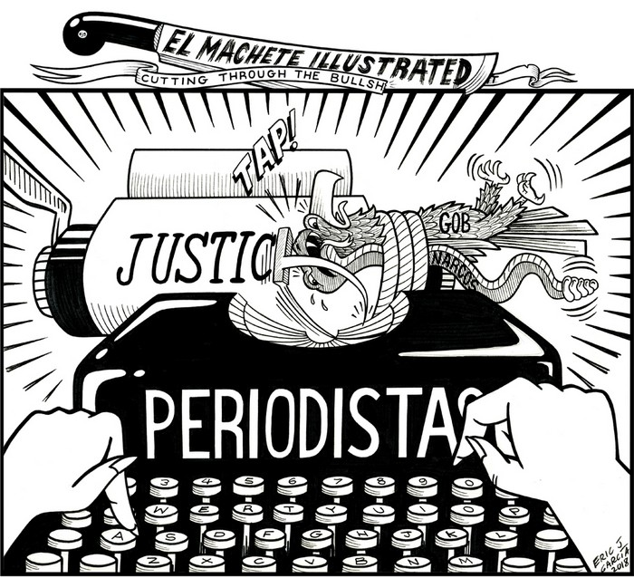 BlackCommentator.com March 22, 2018 - Issue 734: Periodistas (Journalists) - Political Cartoon By Eric Garcia, Chicago IL