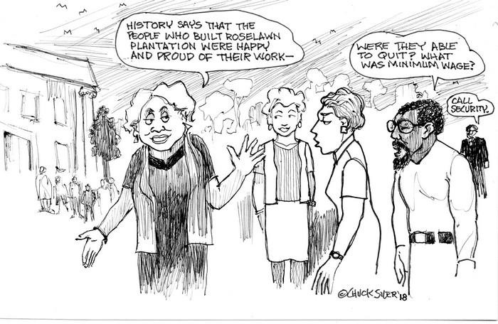 BlackCommentator.com April 05, 2018 - Issue 736: Happy Slaves - Political Cartoon By Chuck Siler, Carrollton TX