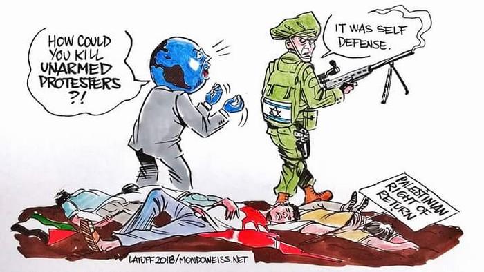 BlackCommentator.com April 12, 2018 - Issue 737: Israel Boycott - Political Cartoon By Carlos Latuff, Rio de Janeiro Brazil
