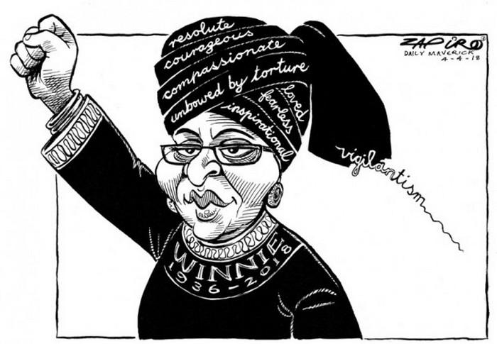 BlackCommentator.com April 12, 2018 - Issue 737: R.I.P. Winnie Mandela - Political Cartoon By Zapiro, South Africa