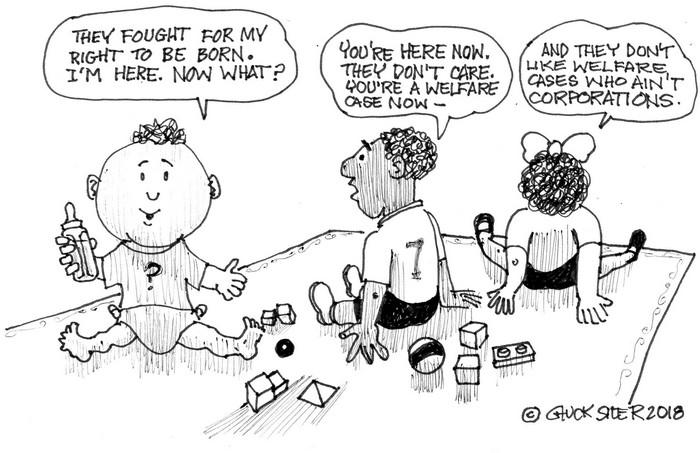 BlackCommentator.com May 10, 2018 - Issue 741: Kiddie Garten - Political Cartoon By Chuck Siler, Carrollton TX