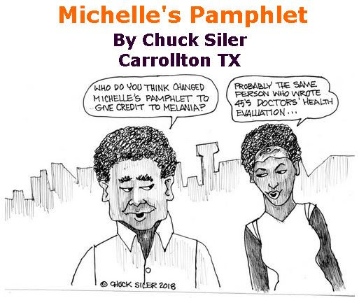 BlackCommentator.com May 17, 2018 - Issue 742: Michelle's Pamphlet - Political Cartoon By Chuck Siler, Carrollton TX