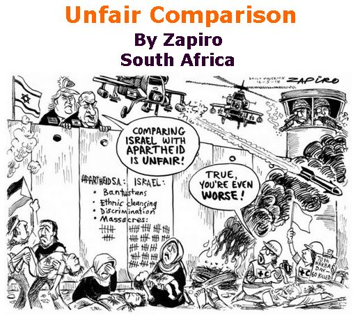 BlackCommentator.com May 24, 2018 - Issue 743: Unfair Comparison - Political Cartoon By Zapiro, South Africa