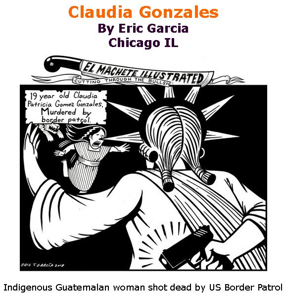 BlackCommentator.com June 07, 2018 - Issue 745: Claudia Gonzales - Political Cartoon By Eric Garcia, Chicago IL