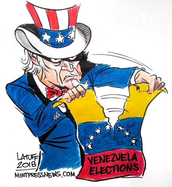 BlackCommentator.com June 07, 2018 - Issue 745: Venezuela Elections - Political Cartoon By Carlos Latuff, Rio de Janeiro Brazil
