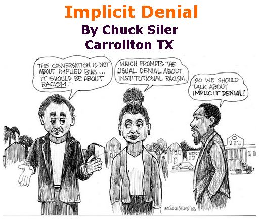 BlackCommentator.com June 14, 2018 - Issue 746: Implicit Denial - Political Cartoon By Chuck Siler, Carrollton TX