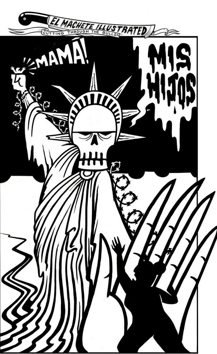 BlackCommentator.com June 14, 2018 - Issue 746: Mis Hijos (my children) - Political Cartoon By Eric Garcia, Chicago IL
