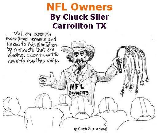 BlackCommentator.com June 21, 2018 - Issue 747: NFL Owners - Political Cartoon By Chuck Siler, Carrollton TX