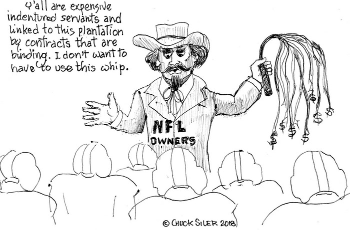 BlackCommentator.com June 21, 2018 - Issue 747: NFL Owners - Political Cartoon By Chuck Siler, Carrollton TX