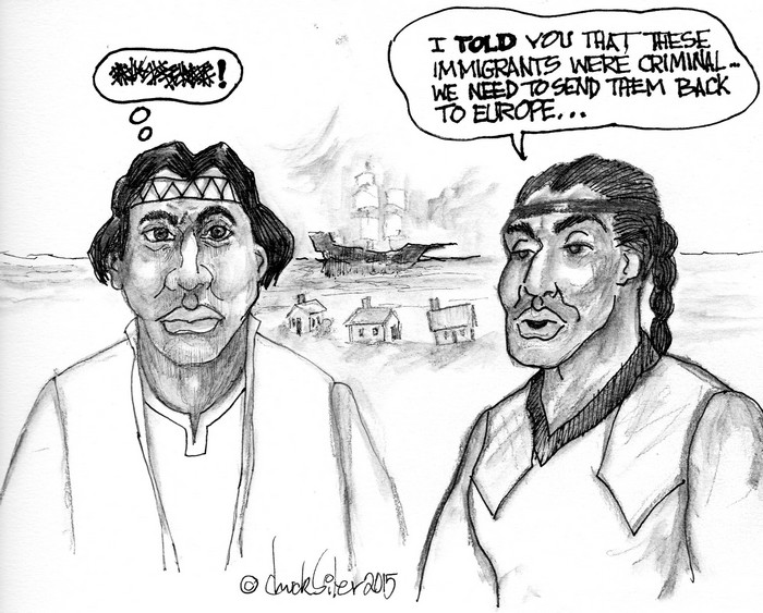 BlackCommentator.com July 05, 2018 - Issue 749: Immigrants - Political Cartoon By Chuck Siler, Carrollton TX