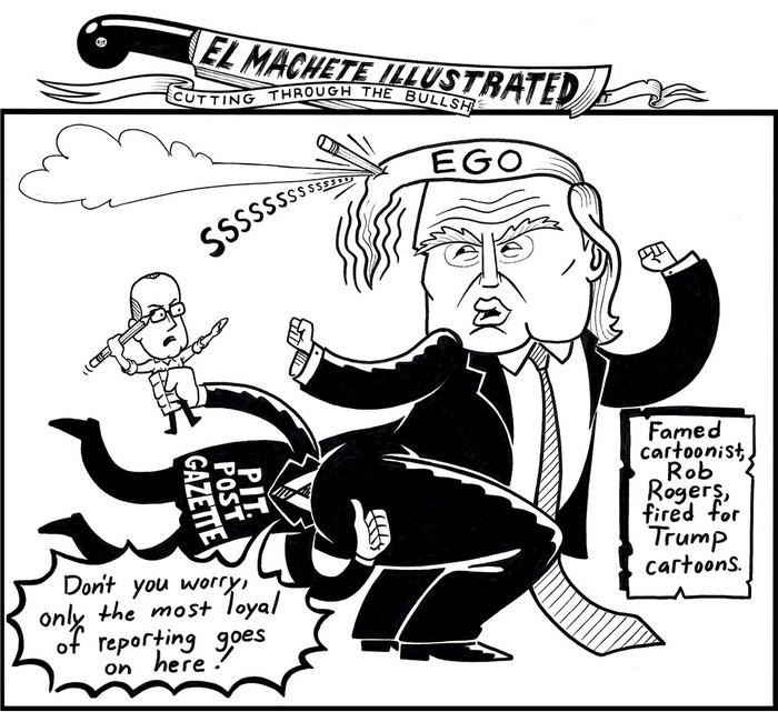 BlackCommentator.com July 19, 2018 - Issue 751: Rob Rogers - Political Cartoon By Eric Garcia, Chicago IL