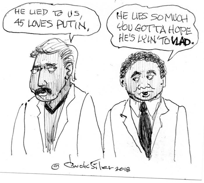 BlackCommentator.com July 26, 2018 - Issue 752: Vlad Love - Political Cartoon By Chuck Siler, Carrollton TX