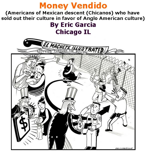 BlackCommentator.com September 13, 2018 - Issue 755: Money Vendido - Political Cartoon By Eric Garcia, Chicago IL