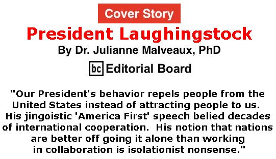 BlackCommentator.com - October 04, 2018 - Issue 758 Cover Story: President Laughingstock By Dr. Julianne Malveaux, PhD, BC Editorial Board