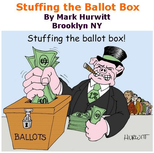 BlackCommentator.com November 08, 2018 - Issue 763: Stuffing the Ballot Box - Political Cartoon By Mark Hurwitt, Brooklyn NY