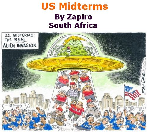 BlackCommentator.com November 08, 2018 - Issue 763: US Midterms - Political Cartoon By Zapiro, South Africa