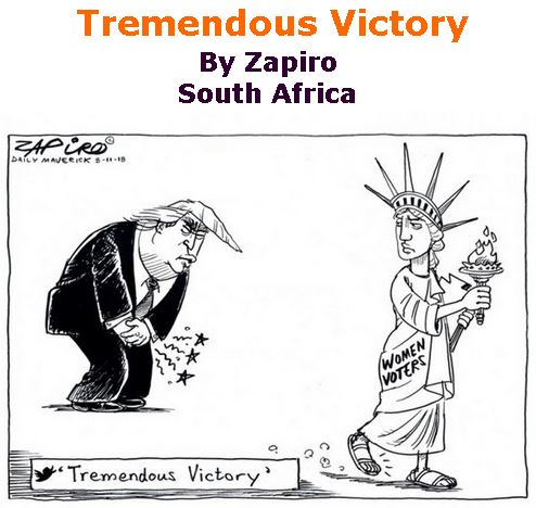 BlackCommentator.com November 15, 2018 - Issue 764: Tremendous Victory - Political Cartoon By Zapiro, South Africa