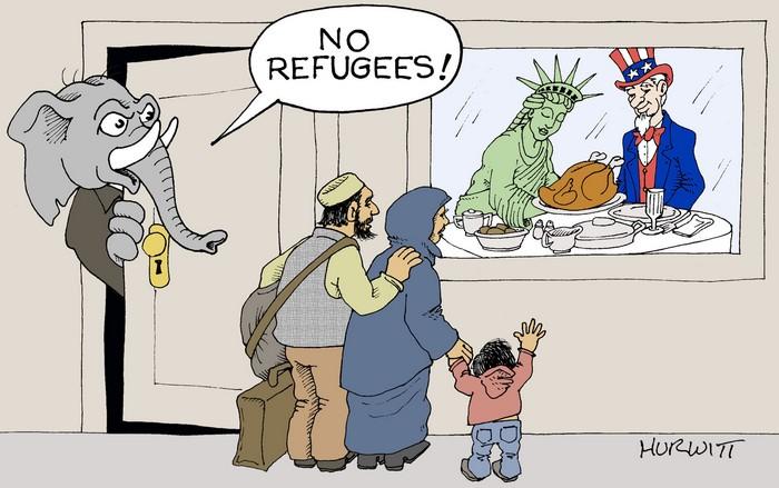 BlackCommentator.com November 22, 2018 - Issue 765: Happy Thanksgiving - Political Cartoon By Mark Hurwitt, Brooklyn NY