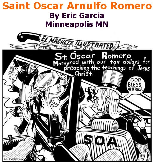 BlackCommentator.com November 29, 2018 - Issue 766: Saint Oscar Arnulfo Romero - Political Cartoon By Eric Garcia, Chicago IL