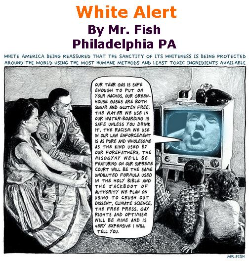 BlackCommentator.com December 06, 2018 - Issue 767: White Alert - Political Cartoon By Mr. Fish, Philadelphia PA