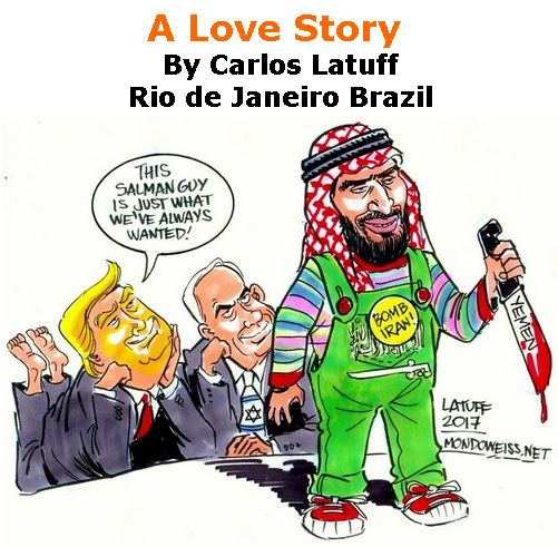 BlackCommentator.com December 06, 2018 - Issue 767: A Love Story - Political Cartoon By Carlos Latuff, Rio de Janeiro Brazil