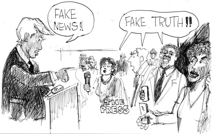 BlackCommentator.com December 06, 2018 - Issue 767: Fake News - Political Cartoon By Chuck Siler, Carrollton TX