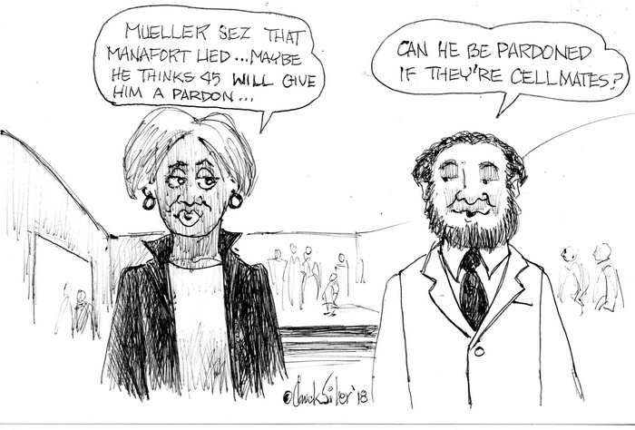 BlackCommentator.com December 13, 2018 - Issue 768: Manafort Pardon - Political Cartoon By Chuck Siler, Carrollton TX