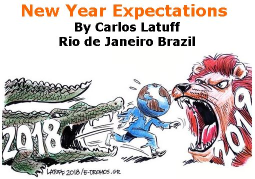 BlackCommentator.com January 10, 2019 - Issue 771: New Year Expectations - Political Cartoon By Carlos Latuff, Rio de Janeiro Brazil