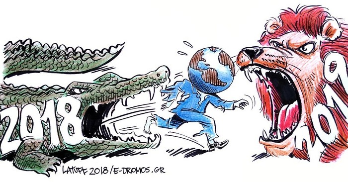 BlackCommentator.com January 10, 2019 - Issue 771: New Year Expectations - Political Cartoon By Carlos Latuff, Rio de Janeiro Brazil