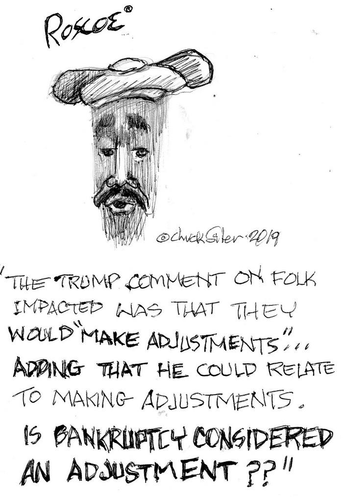 BlackCommentator.com January 17, 2019 - Issue 772: Making Adjustments - Political Cartoon By Chuck Siler, Carrollton TX
