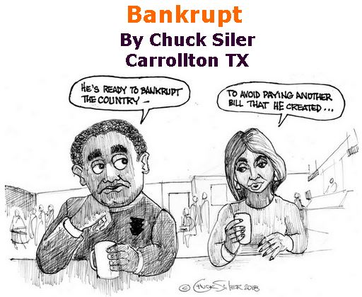 BlackCommentator.com January 24, 2019 - Issue 773: Bankrupt - Political Cartoon By Chuck Siler, Carrollton TX