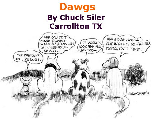BlackCommentator.com February 21, 2019 - Issue 777: Dawgs - Political Cartoon By Chuck Siler, Carrollton TX