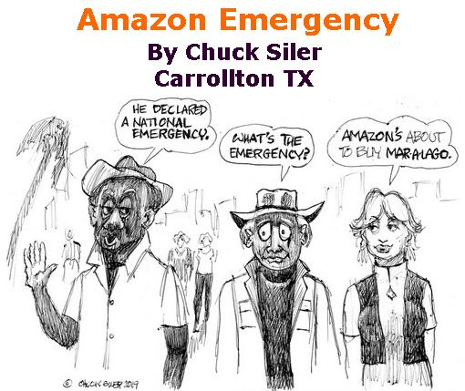 BlackCommentator.com February 28, 2019 - Issue 778: Amazon Emergency - Political Cartoon By Chuck Siler, Carrollton TX