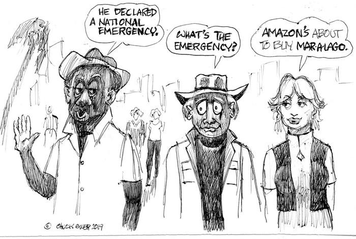 BlackCommentator.com February 28, 2019 - Issue 778: Amazon Emergency - Political Cartoon By Chuck Siler, Carrollton TX