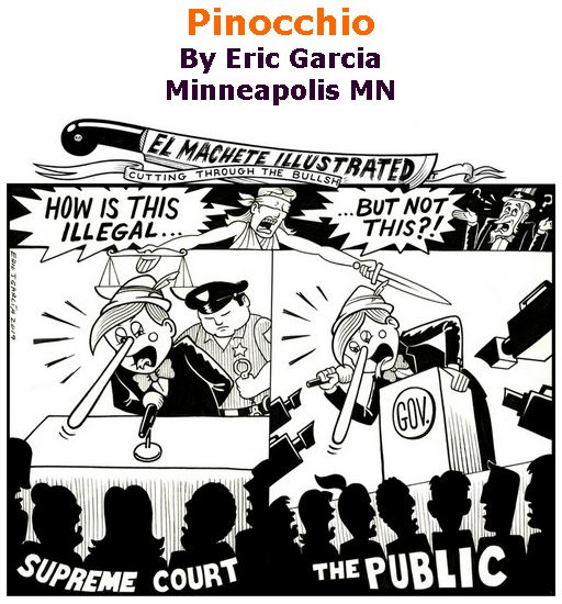 BlackCommentator.com March 07, 2019 - Issue 779: Pinocchio - Political Cartoon By Eric Garcia, Chicago IL